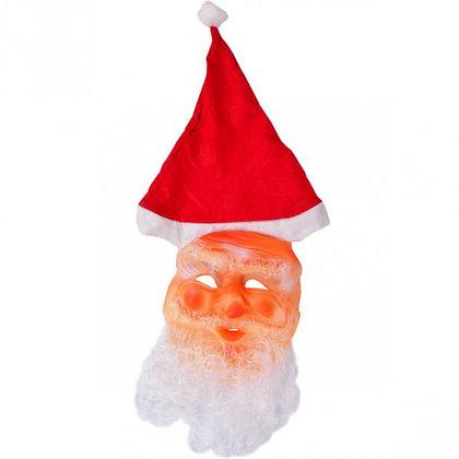 Маска Діда Мороза, з ковпаком