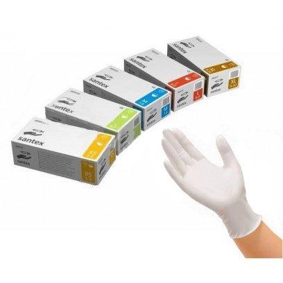 Рукавиці медичні латексні «Santex» S