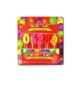 """Свічка для торта """"Цифра"""" (набір)"""