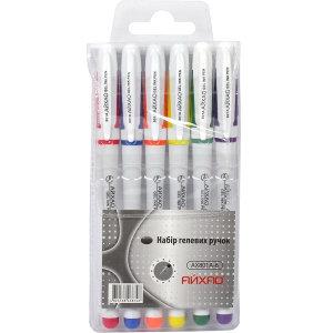 Ручка 801 гелева 6 кольорів (набір)