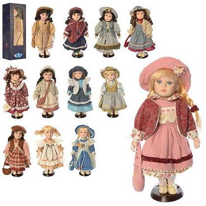 Лялька G067-12, фарфор, на підставці
