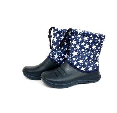 Дутіки дитячі БД02 темно сині зірка