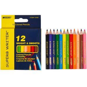 """Олівець кольоровий """"Marco"""" короткий 12 кольорів"""