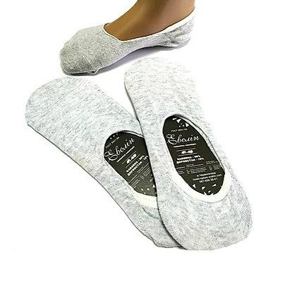 """Шкарпетки сліди """"Евелін"""", 36-40 р. (Сірі)"""