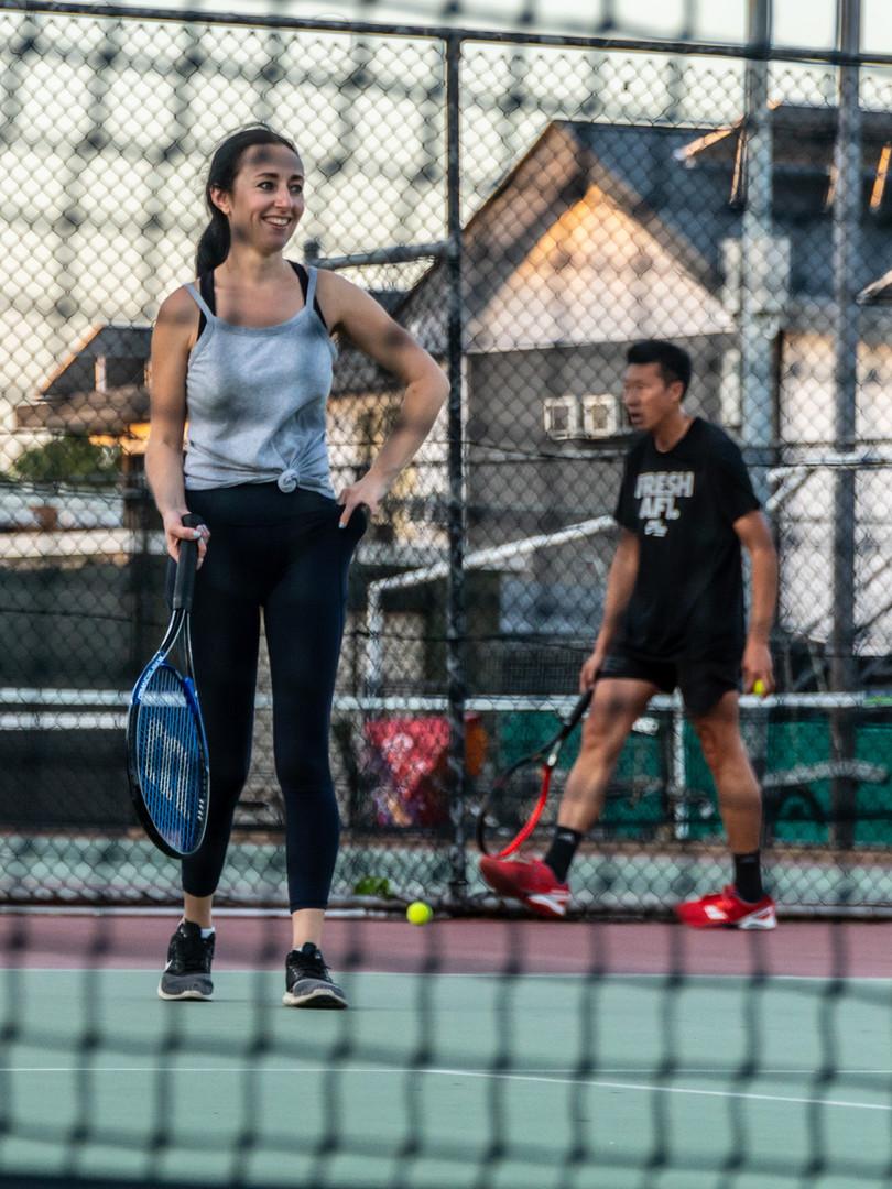 Enjoying Tennis