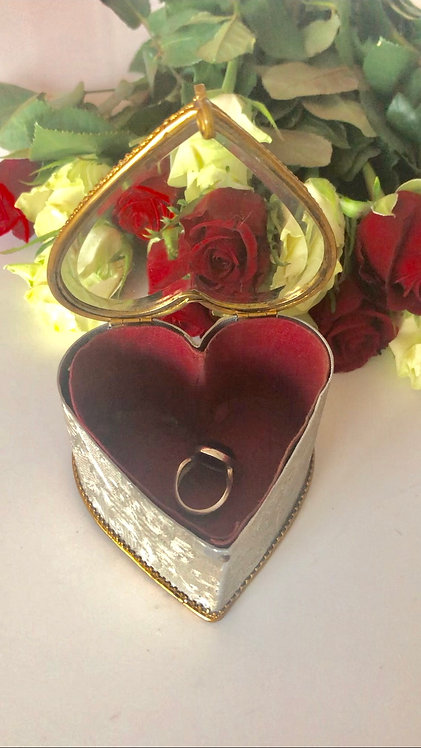 Antique French Jewelry Box Heart
