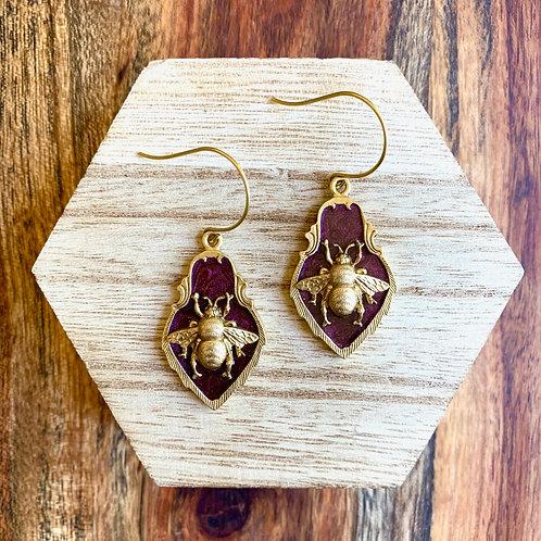 Bee Crest Earrings