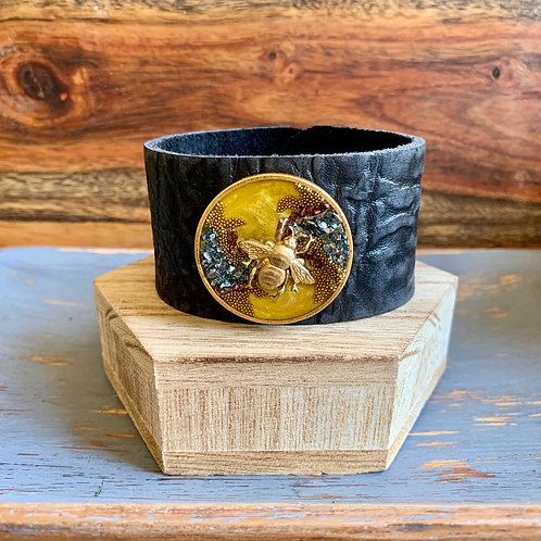 """Wearable Art"" Leather Cuff"