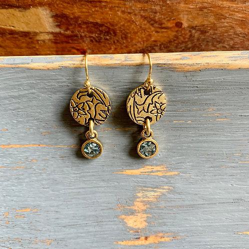 Dainty Stamped Earrings
