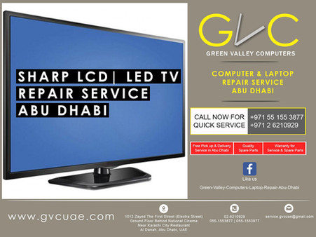 sharp tv repair in abu dhabi