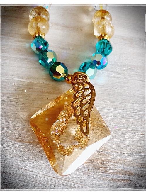 Golden Divine Goddess Necklace