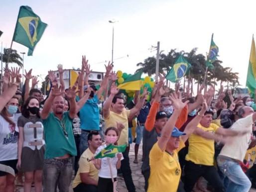Manifestantes fizeram atos pró-Bolsonaro e a favor de voto impresso em Vitória da Conquista, Brumado