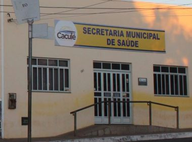 Caculé: Secretaria de Saúde de é arrombada e PM prende autor do crime no local