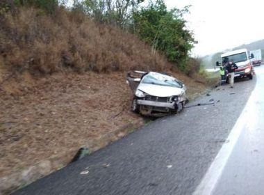 Motorista fica gravemente ferido após perder direção do veículo em trecho da BR-116