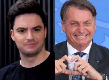 Ao lado de Bolsonaro, criança pede prisão de Felipe Neto; youtuber reage