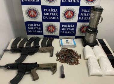 Porto Seguro: PM apreende 4 kg de cocaína e dois fuzis M4