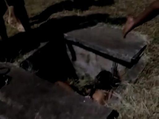 Ilhéus-Ba: Mulher cai em bueiro após acidente no trevo da zona norte