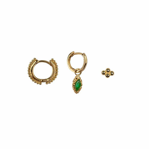 Betty Bogaers - Mix and Match Earring Gold Plated Set 1