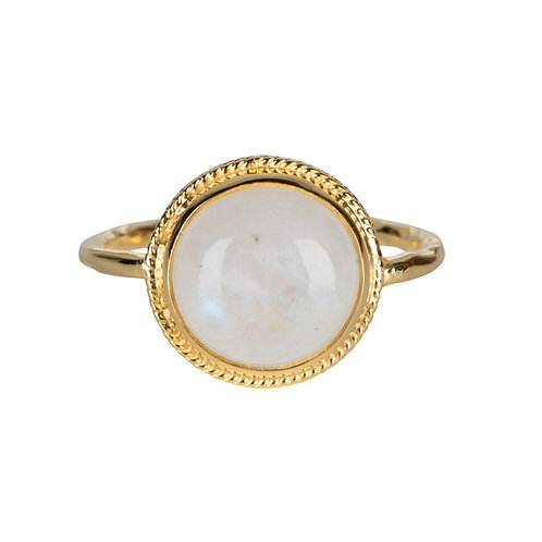 Betty Bogaers - Moonstone Vintage Setting Ring Gold Plated