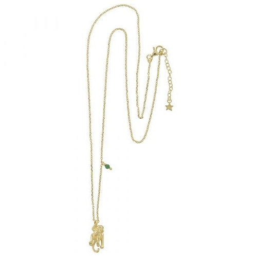Small Monkey Necklace Gold Plated - Betty Bogaers