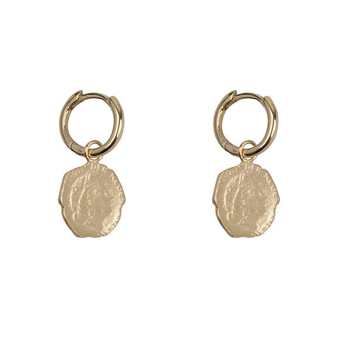 Betty Bogaers - Ten Cent Small Hoop Earring Gold Plated