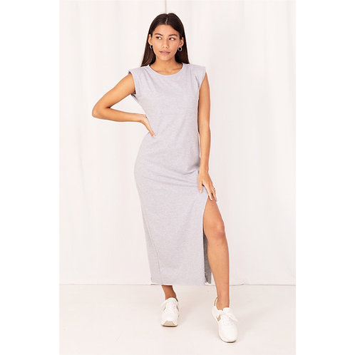 Lola Grey T-shirt  Dress - COL