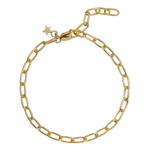 Betty Bogaers - Big Chain Bracelet Gold Plated (18 cm)