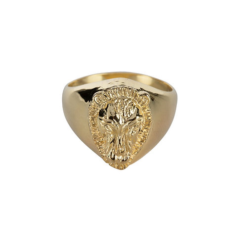 Betty Bogaers - Lion Signet Ring Gold Plated
