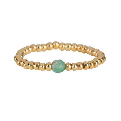 Betty Bogaers - Beads One Jade Ring Gold Plated