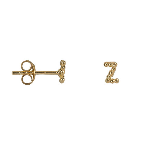 Betty Bogaers - Letter Stud Alphabeth A-Z Gold Plated (click to select letter)