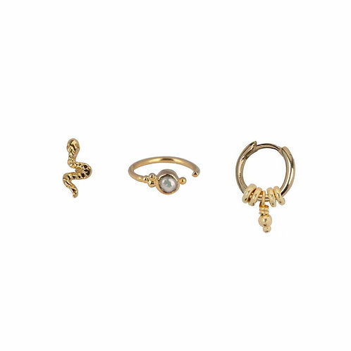 Betty Bogaers - Mix and Match Earring Gold Plated Set 2