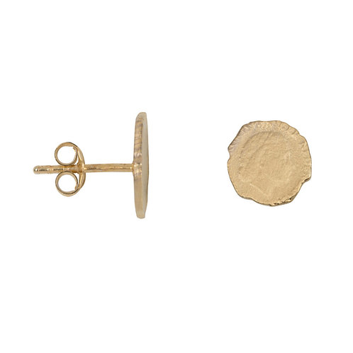 Betty Bogaers - Ten Cent Stud Earring Gold Plated
