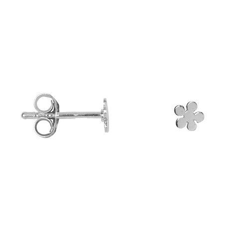 Betty Bogaers - Flat Bobble Flower Stud Earring Silver