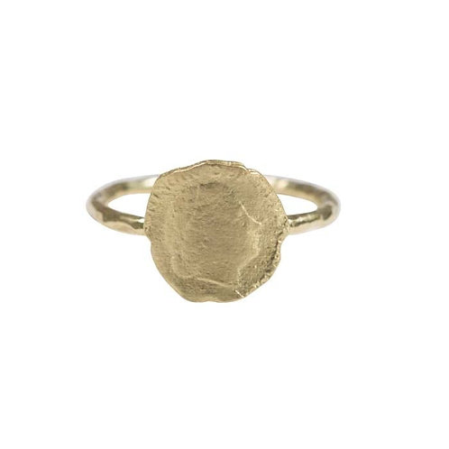 Betty Bogaers - Ten Cent Ring Gold Plated