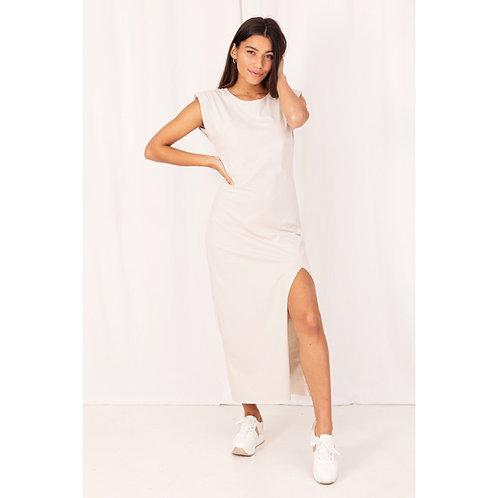 Lola Beige T-shirt Dress - COL