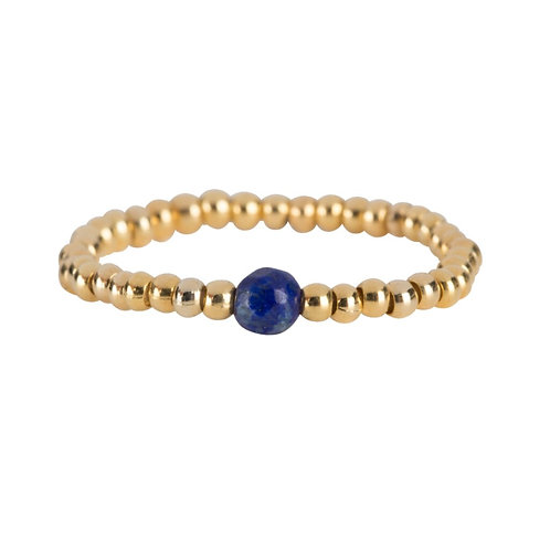 Beads One Lapis Lazuli Ring Gold Plated - Betty Bogaers