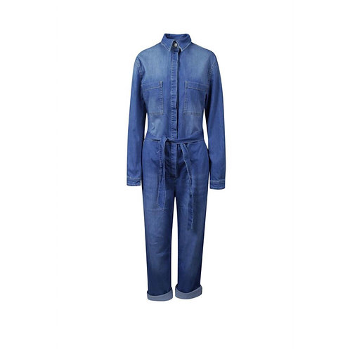 Est Seven - Blue Aliya Denim Jumpsuit