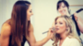 I love this photo of Danielle and I working on one of our beautiful brides, Holly! We loved this wed