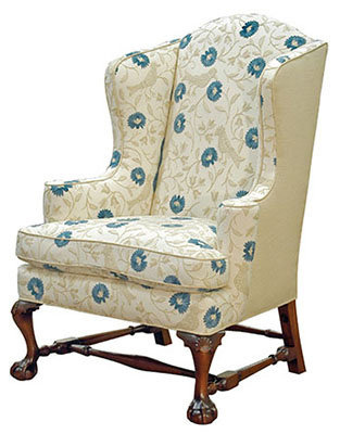 Carved Wing Chair