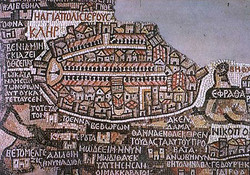Древняя мозаичная карта