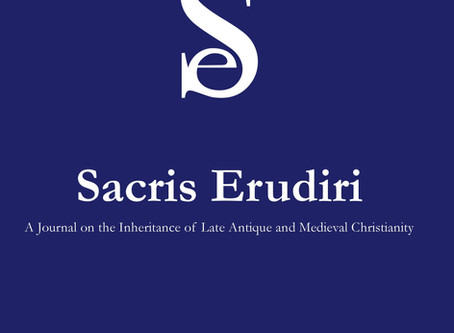 Out now: Sacris Erudiri 58 (2019)