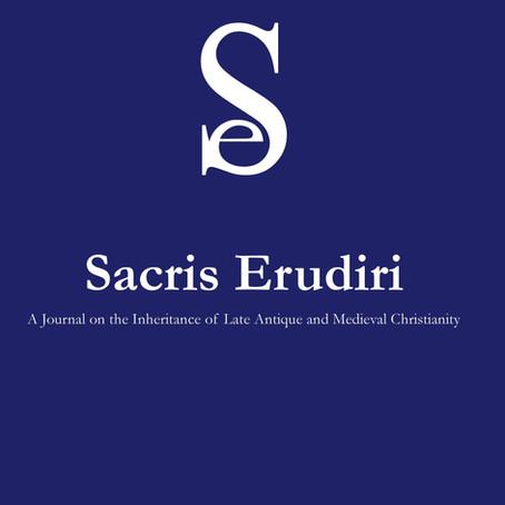 Out now: Sacris Erudiri 59 (2020)