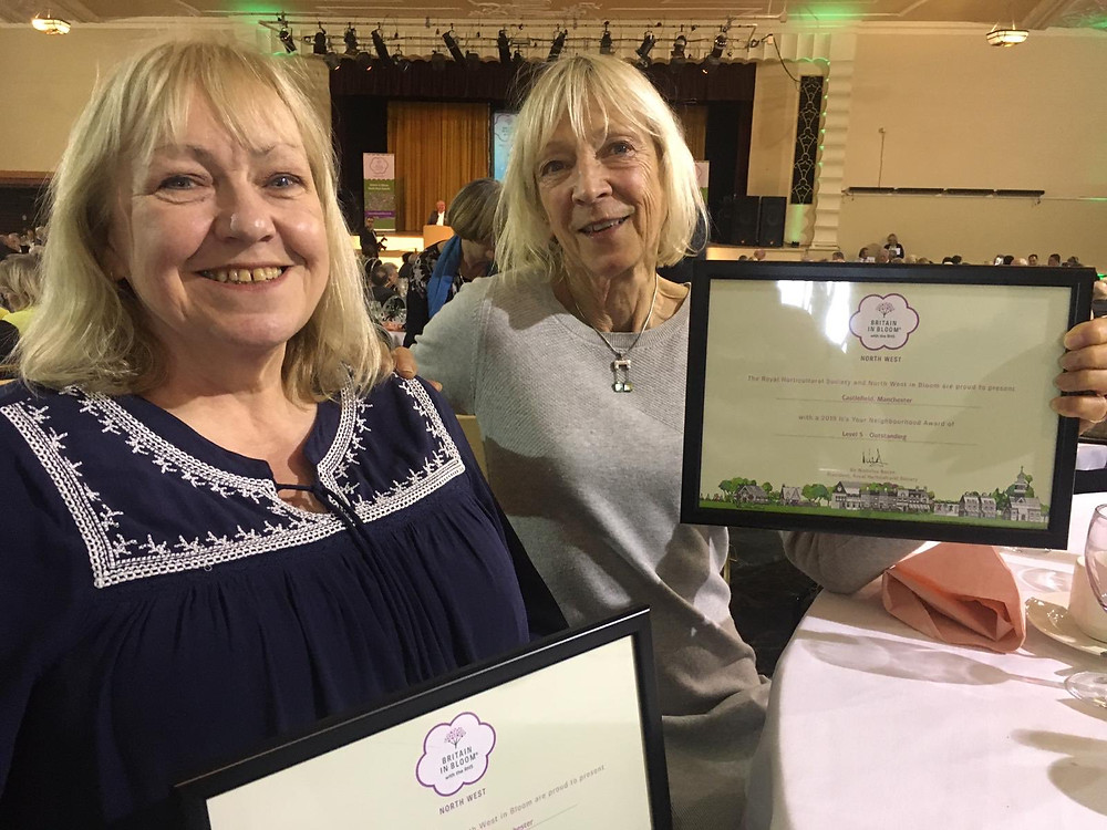 Carol Middleton and Carol Stansfield at the North West In Bloom Awards 2019