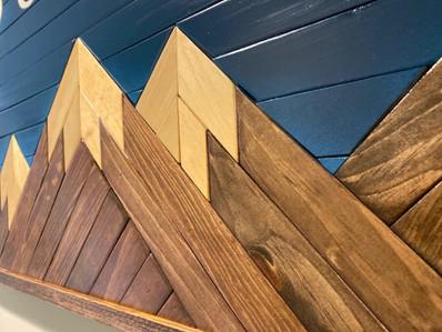 Mountain Wood Art Closeup