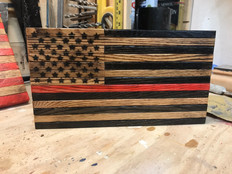 Natural Tones Thin Red Line Flag