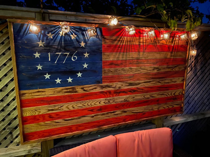 Oversized Patio Flag with 1776 Betsy Ross design