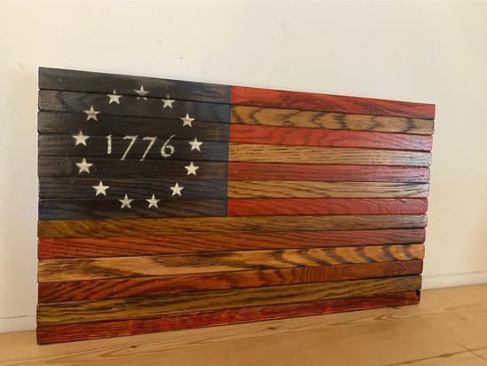 Burned 1776 Flag