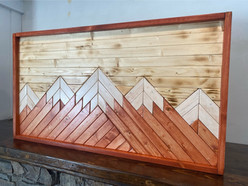 Mountain Wood Art in Natural Wooden Shades