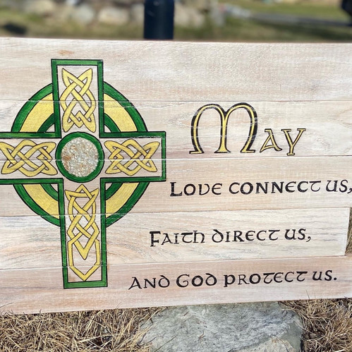 Irish Blessing with Celtic Cross