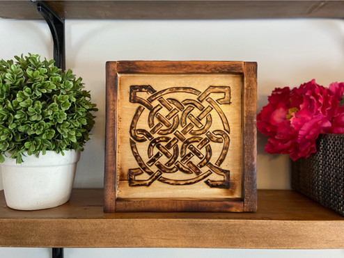 Celtic Burn wrapped in Reclaimed Wood